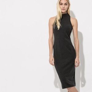 Kit and Ace Gray Reveal & Conceal Midi Dress Sz 4